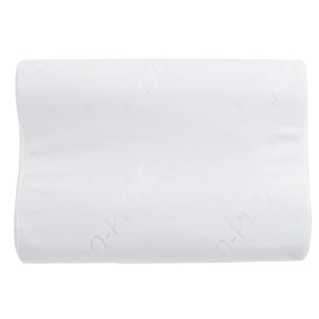 Iso-Pedic Contoured Memory-Foam Bed Pillow - Standard in White