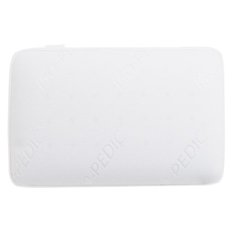Iso-Pedic Gusseted Memory-Foam Bed Pillow - Oversized Standard in White