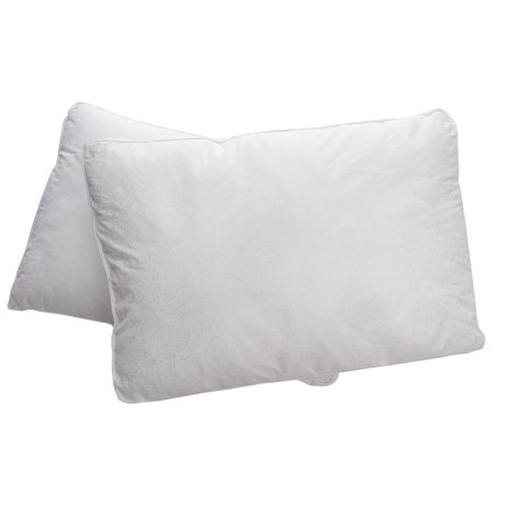 Iso-Pedic Gusseted Sateen Paisley Bed Pillows - King, 300 TC, 2-Pack in White