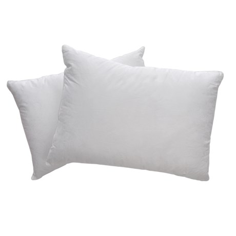 Iso-Pedic Sateen Paisley Bed Pillows - Jumbo, 300 TC, 2-Pack in White