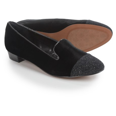 Isola Coventry Cap-Toe Shoes - Slip-Ons (For Women) in Black