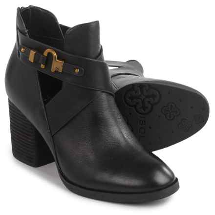 Isola Larkin Strappy Booties - Leather (For Women) in Black - Closeouts