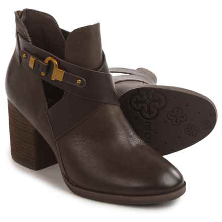Isola Larkin Strappy Booties - Leather (For Women) in Dark Brown - Closeouts