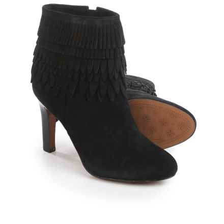 Isola Layton Dress Boots - Suede, Fringe Detail (For Women) in Black Suede - Closeouts