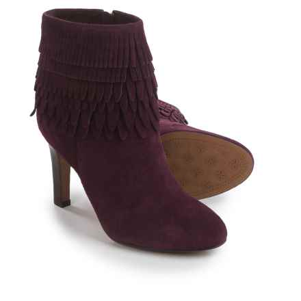 Isola Layton Dress Boots - Suede, Fringe Detail (For Women) in Bordo Suede - Closeouts