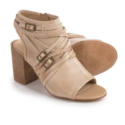 Isola Leonora Open-Toe Bootie Sandals - Leather (For Women) in Cream - Closeouts