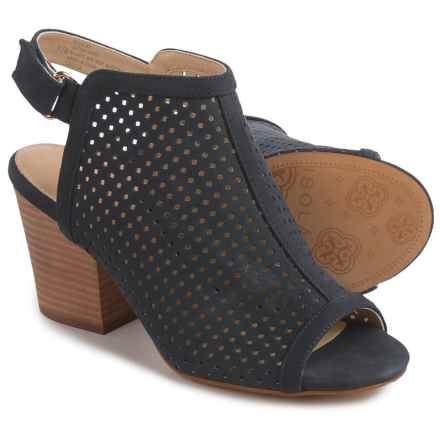 Isola Lora Bootie Sandals - Perforated Leather (For Women) in Navy - Closeouts
