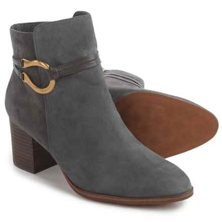 Isola Odell Dress Boots - Leather, Side Zip (For Women) in Steel Grey Suede - Closeouts