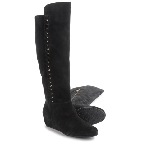 Isola Taveres Tall Dress Boots - Suede, Wedge Heel (For Women)