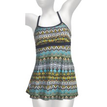 It Figures Banded Empire Waist Swimdress - 1-Piece (For Women) in Tribunal Stripes - Closeouts
