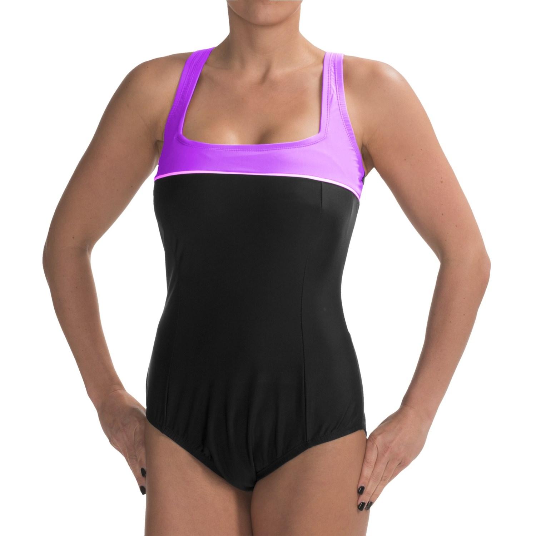 It Figures Color-Block Swimsuit