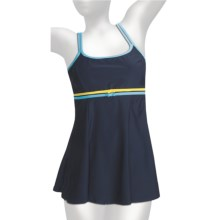 It Figures Double Bow Swimdress - 1-Piece (For Women) in Navy - Closeouts