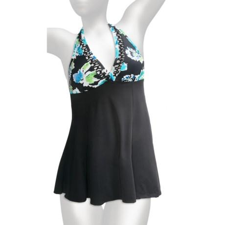 It Figures H-Back Swimdress (For Women) in Black