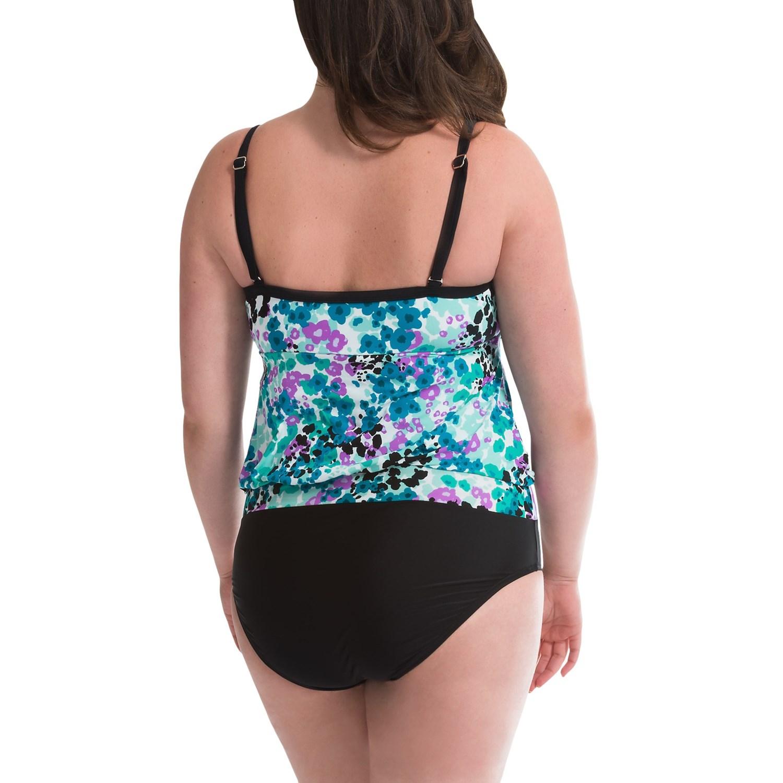 d0979676c2 It Figures Sunny Delight Blouson Swimsuit (For Plus Size ... - photo#