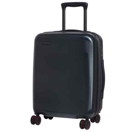 """IT Luggage 20"""" Autograph Expandable Spinner Suitcase - Hardside in Navy W/ Red Trim - Closeouts"""