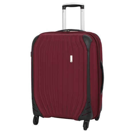 "IT Luggage 24.8"" Impact Frameless Spinner Suitcase in Dark Red"