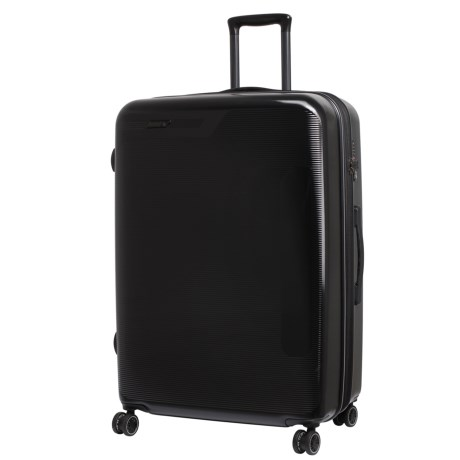 "IT Luggage 29.8"" Autograph Expandable Spinner Suitcase - Hardside in Black W/ Light Grey Trim"