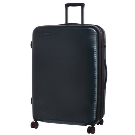 "IT Luggage 29.8"" Autograph Expandable Spinner Suitcase - Hardside in Navy W/ Red Trim"