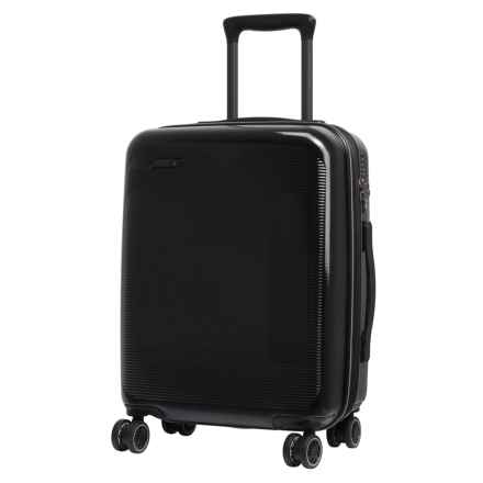 "IT Luggage Autograph Expandable Spinner Suitcase - Hardside, 20.1"" in Black W/ Light Grey Trim - Closeouts"