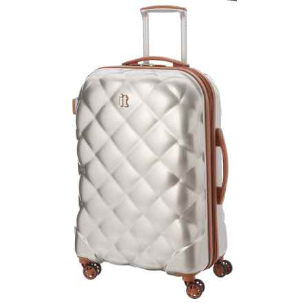 "IT Luggage Saint Tropez Deux Spinner Suitcase - 21.5"", Hardside in Dark Champagne W/ Almond Trim - Closeouts"