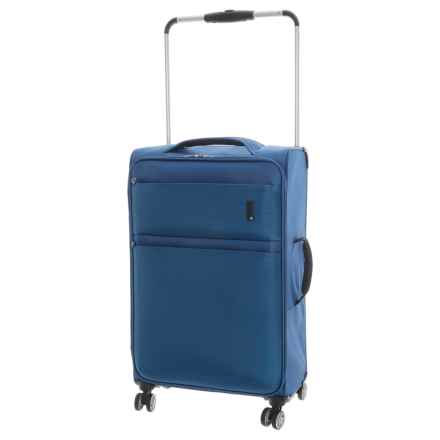 "IT Luggage World's Lightest Debonair Spinner Suitcase - Softside, 21.5"" in Two Tone Blue - Closeouts"