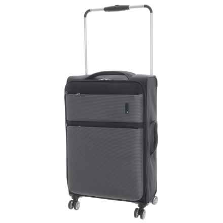 "IT Luggage World's Lightest Debonair Spinner Suitcase - Softside, 31.5"" in Black/White - Closeouts"