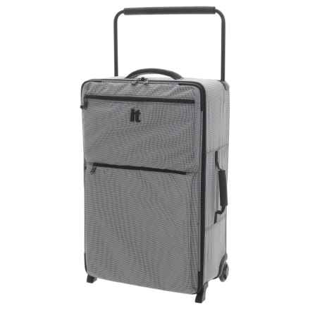"IT Luggage World's Lightest Rolling Suitcase - 21.5"" in Two Tone Black/White - Closeouts"