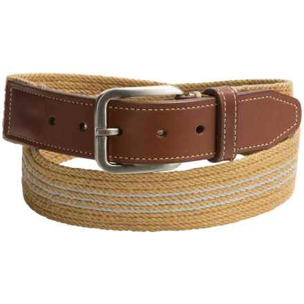 Italian Linen Belt (For Men) in Khaki - Closeouts