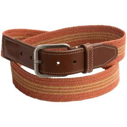 Italian Linen Belt (For Men) in Melon - Closeouts