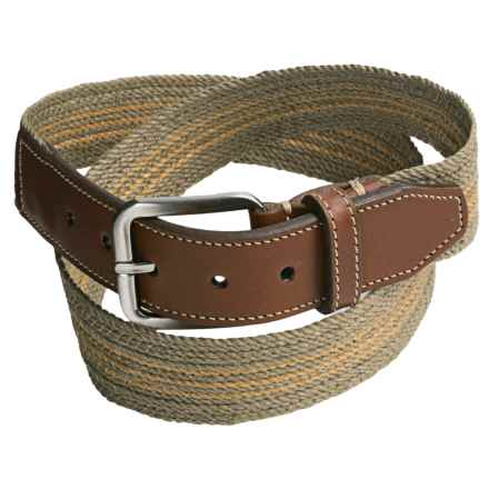 Italian Linen Belt (For Men) in Sage/Khaki - Closeouts