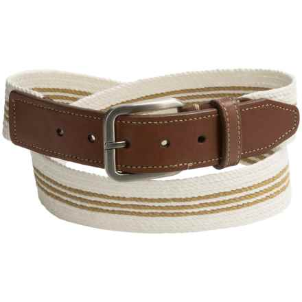 Italian Linen Belt (For Men) in White - Closeouts
