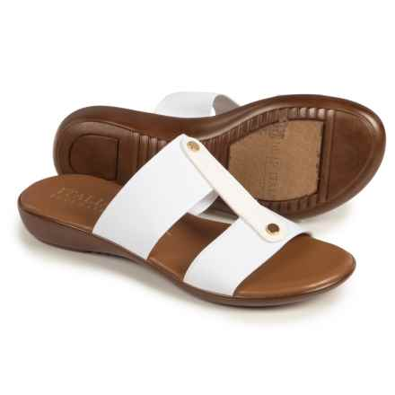Italian Shoemakers Double-Strap Slides (For Women) in White - Closeouts