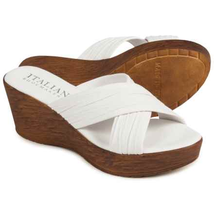 Italian Shoemakers Platform Sandals - Leather (For Women) in White - Closeouts