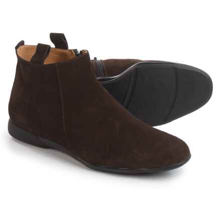 Italian Shoemakers Pull-On Ankle Boots - Suede (For Women) in Chocolate Suede - Closeouts