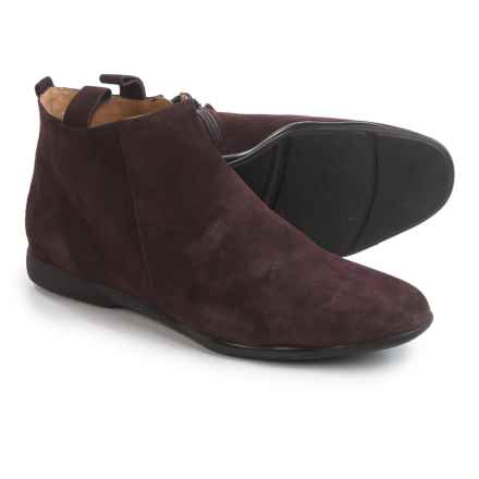 Italian Shoemakers Pull-On Ankle Boots - Suede (For Women) in Wine Suede - Closeouts