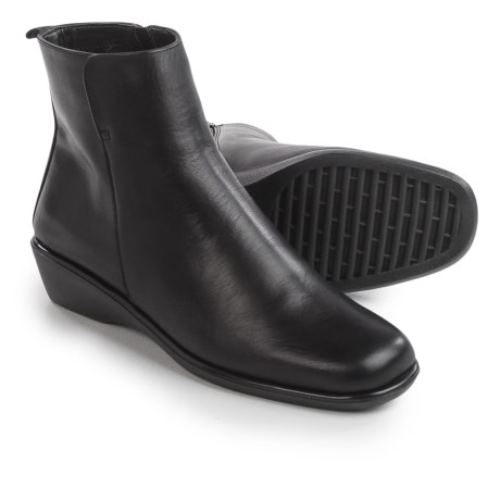 Italian Shoemakers Wedge Ankle Boots - Leather (For Women)