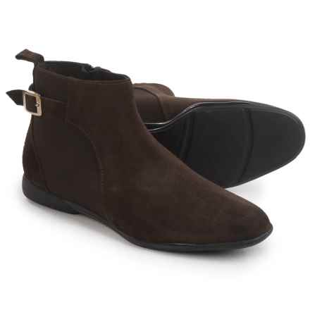 Italian Shoemakers Woodpeak Boots - Suede (For Women) in Chocolate Leather - Closeouts