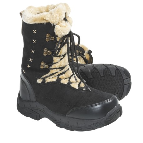 Itasca Anastasia Snow Boots (For Women) in Black/Black