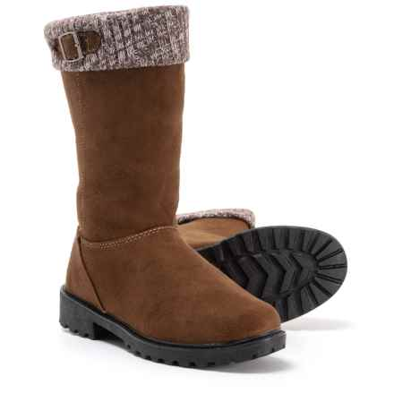 Itasca Emma Microsuede Boots (For Women) in Brown - Closeouts