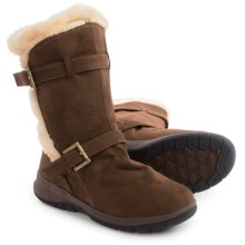 Itasca Heather Apres Ski Boots - Suede, Insulated (For Women) in Brown - Closeouts