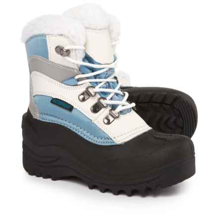 Itasca Sleigh Bell Snow Boots - Waterproof, Insulated (For Girls) in Blue - Closeouts