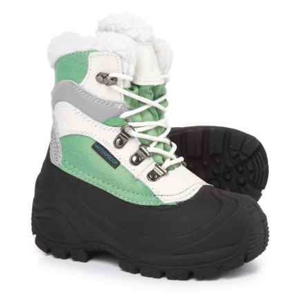 Itasca Sleigh Bell Snow Boots - Waterproof, Insulated (For Girls) in Mint - Closeouts