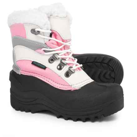 Itasca Sleigh Bell Snow Boots - Waterproof, Insulated (For Girls) in Pink - Closeouts