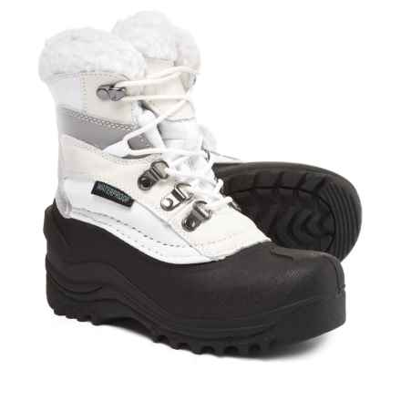 Itasca Sleigh Bell Snow Boots - Waterproof, Insulated (For Girls) in White - Closeouts