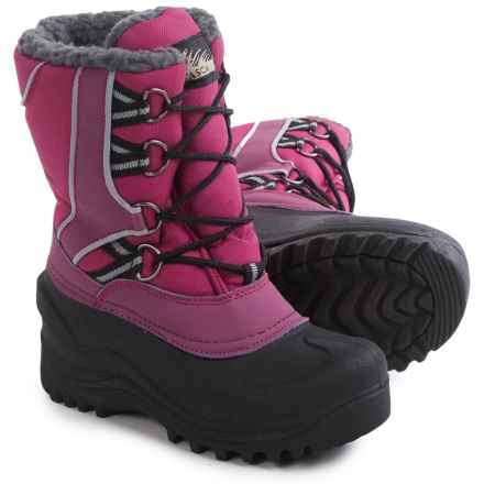 Itasca Snow Kicker Pac Boots - Insulated (For Little and Big Kids) in Berry - Closeouts