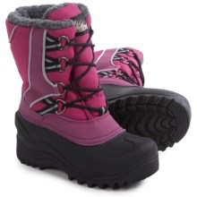 Itasca Snow Kicker Snow Boots - Insulated (For Little and Big Kids) in Berry - Closeouts