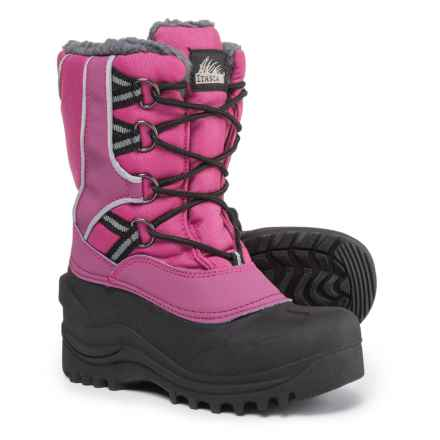 Itasca Snow Kicker Snow Boots - Waterproof, Insulated (For Girls) in Berry - Closeouts
