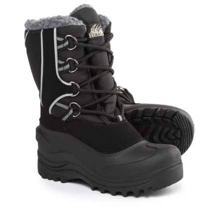 Itasca Snow Kicker Snow Boots - Waterproof, Insulated (For Girls) in Black - Closeouts