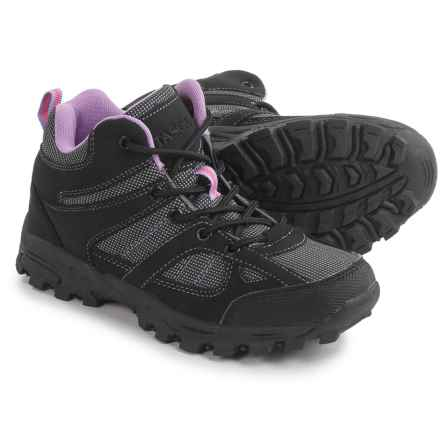 Itasca Stella Hiking Shoes (For Little and Big Kids) in Black - Closeouts