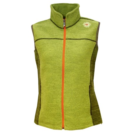 Ivanhoe Beata Vest - Boiled Wool (For Women) in Apple